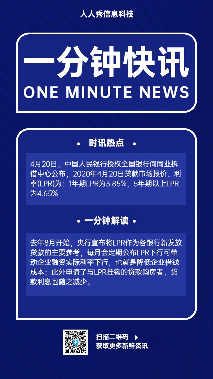 一分钟快讯日报早报热点手机海报